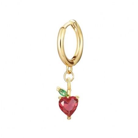 Kolczyk w kolorze złotym z kryształkiem nausznica fruity 1szt K1547WZ3