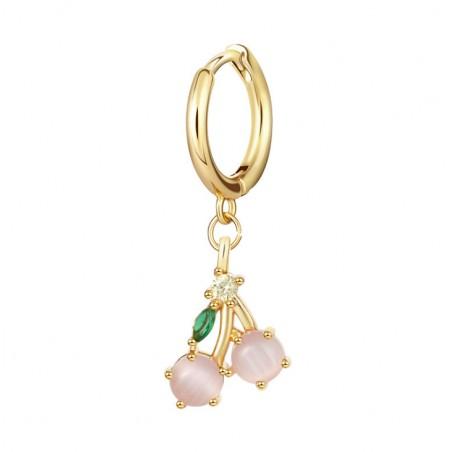 Kolczyk w kolorze złotym z kryształkiem nausznica fruity 1szt K1547WZ5