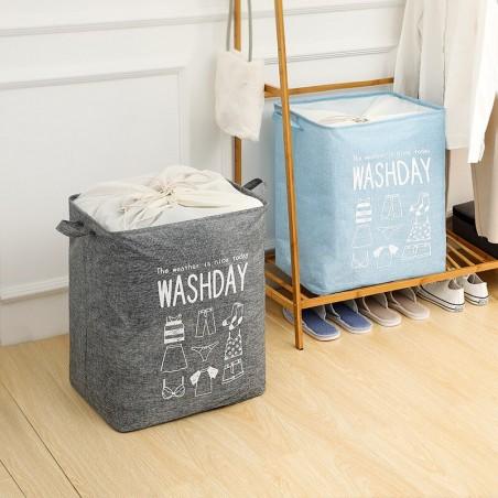Pojemnik na zabawki kosz, worek na pranie ze ściągaczem 50x40x50 cm OR52WZ6