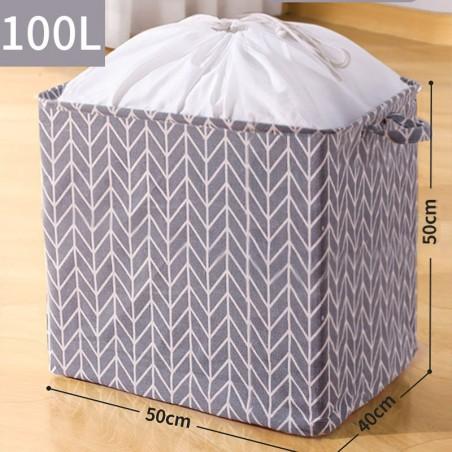Pojemnik na zabawki kosz, worek na pranie ze ściągaczem 50x40x50 cm OR52WZ7