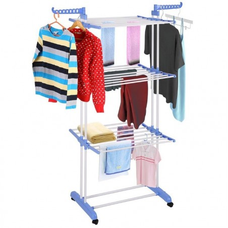 Suszarka na pranie duża pionowa składana stojąca poziomowa