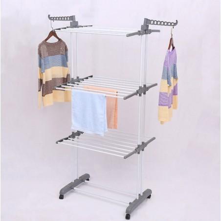 Suszarka na pranie duża pionowa składana biało szara stojąca poziomowa SU02