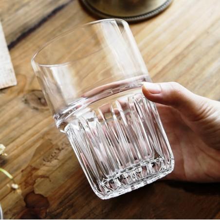 SZKLANKI ZDOBIONE DO KAWY LATTE DRINKÓW WHISKY 320 ML WYSOKA - ZESTAW 4 SZT