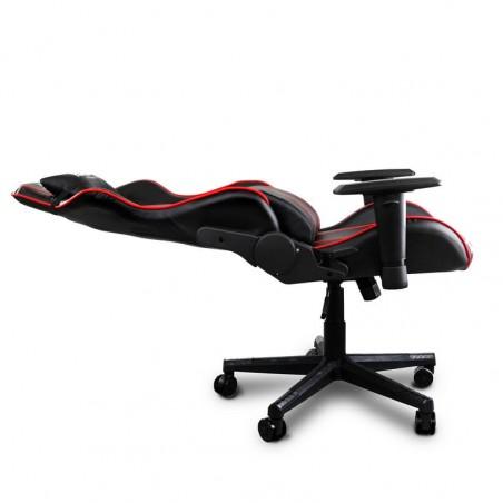 Fotel gamingowy Raptor - X obrotowy biurowy czarny z czerwonymi paskami KO10X