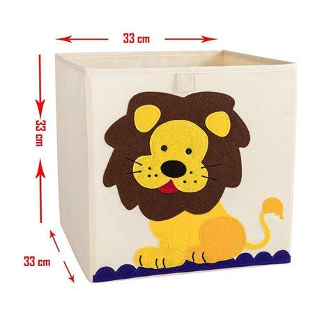 Pojemnik na zabawki sztywny, filc, lis OR4WZ15