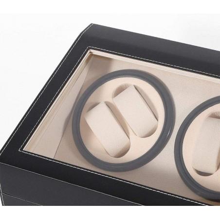 Rotomat na zegarek automatyczny, ekoskóra obszyta szkatułka gablotka PD103