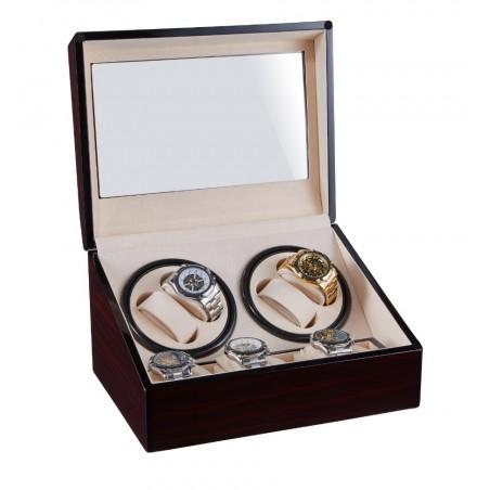 Rotomat na zegarek automatyczny, szkatułka brąz gablotka lakierowana PD113