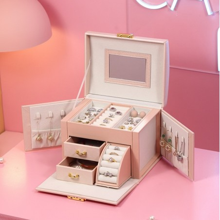 Szkatułka na biżuterię kuferek etui organizer model 2021 pudełko PD120PR