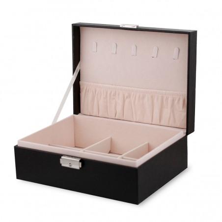 Szkatułka na biżuterię, etui, organizer, pudełko czarna PD100CZ
