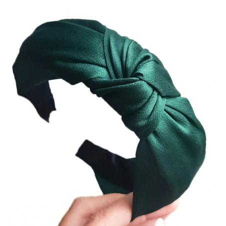 Opaska turban z materiału zieleń O228ZIE