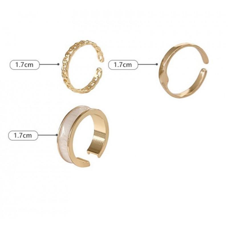 Zestaw 3 pierścionków złote PE62