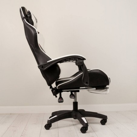 Fotel gamingowy obrotowy z podnóżkiem EC GAMING KO02BCZ