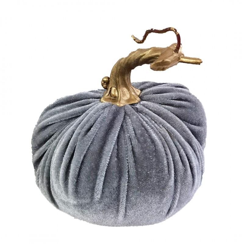 Stojąca ozdoba Welurowa dynia jesienna XL OZL02SZ