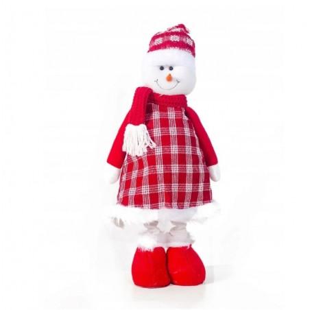Figurka świąteczna Boże Narodzenie stojący Bałwanek Śpiewający 70 cm Z PLUSZU KSN03WZ3