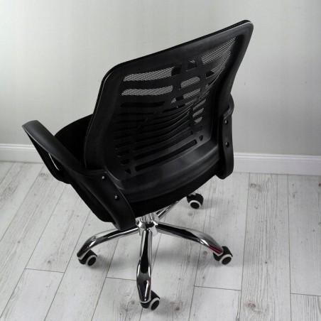Fotel obrotowy z niskim oparciem mikrosiatka KO05CZ