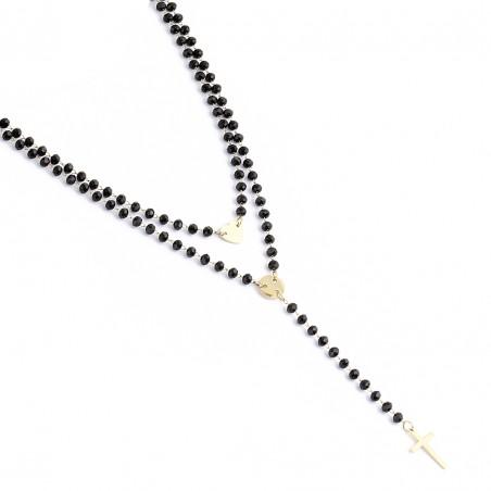 Naszyjnik stal chirurgiczna platerowany złotem NST1301