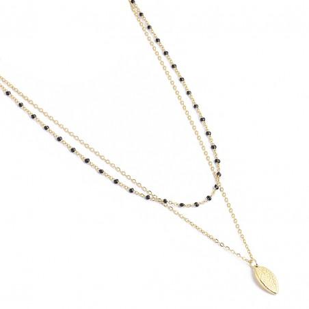 Naszyjnik stal chirurgiczna platerowany złotem NST1297