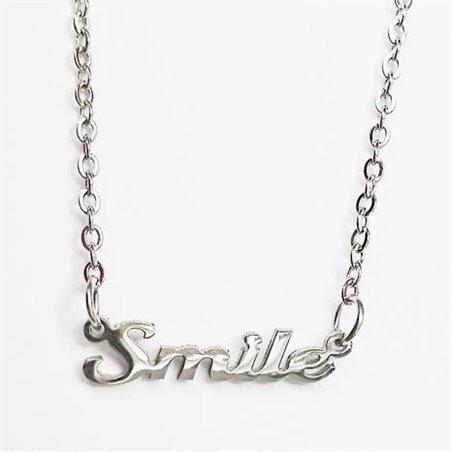 Naszyjnik Stal chirurgiczna Napis smile