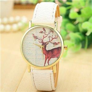 Zegarek jeleń biel Z135B