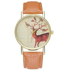 Zegarek jeleń brąz Z135