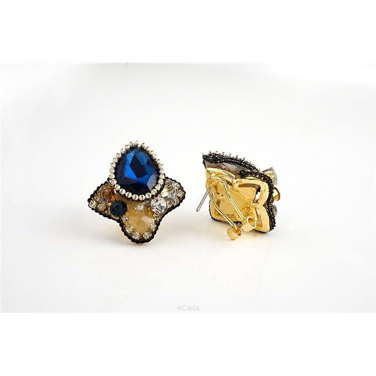 Kolczyki 8704 Granat