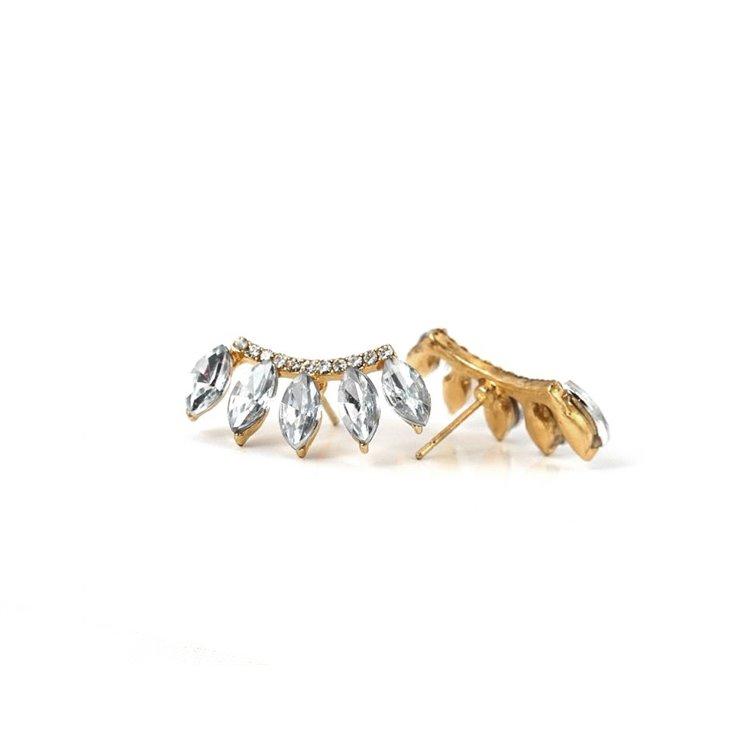 Kolczyki Nausznica Korona Złoto K26