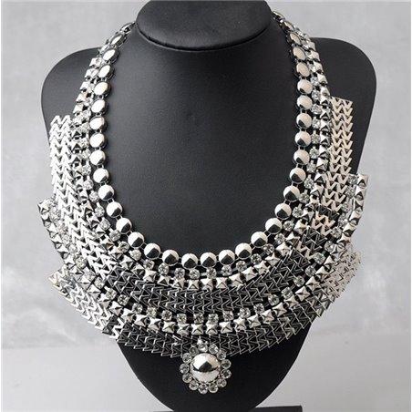naszyjnik kolia faraonka kryształ n70 srebro