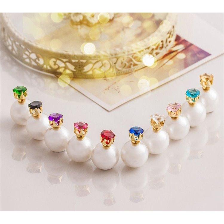 Kolczyki Kule Triball Diorki Z Kryształkiem K70