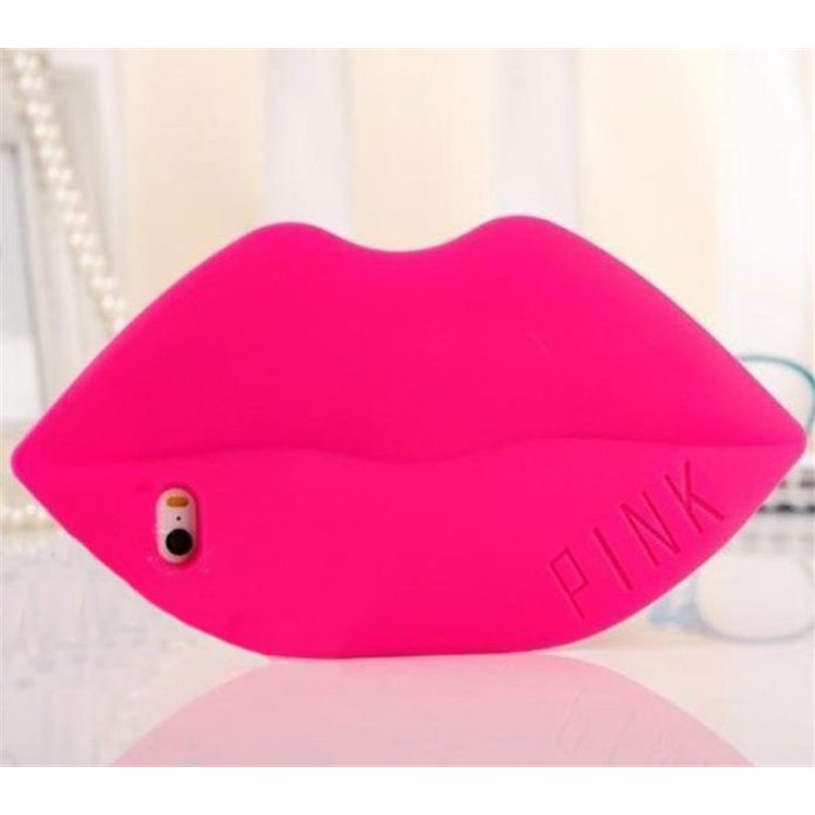 Etui na telefon Case LIPS Fuksja iPhone 6/6s
