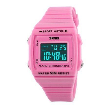 Zegarek skmei chronograph WODOODPORNY LED RÓŻOWY Z258
