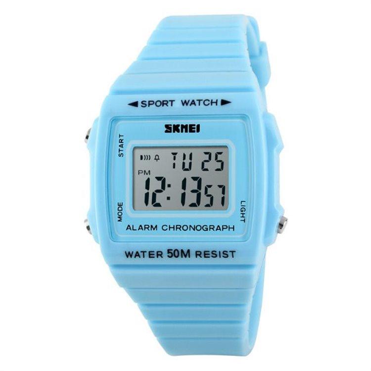 Zegarek skmei chronograph WODOODPORNY LED NIEBIESKI Z258