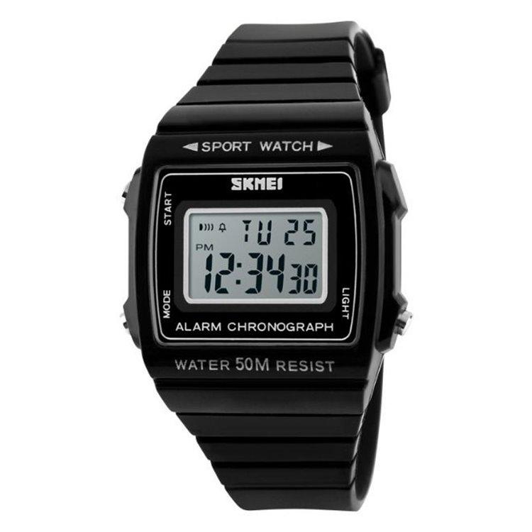 Zegarek skmei chronograph WODOODPORNY LED CZARNY Z258