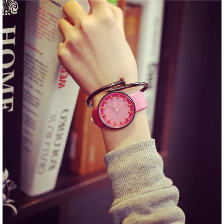 Zegarek na pasku PUDROWE BARSCH FUKSJA Z263