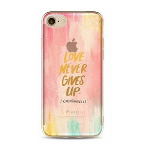 ETUI NA TELEFON IPHONE 5/5S - LOVE NEVER GIVES UP ETUI16WZ7