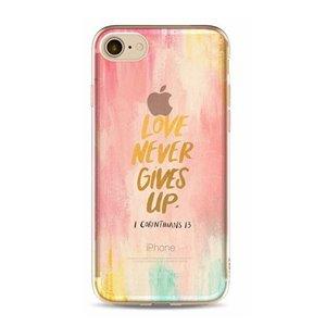 ETUI NA TELEFON IPHONE 6/6S - LOVE NEVER GIVES UP ETUI17WZ7