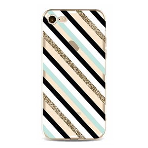 ETUI NA TELEFON IPHONE 5/5S - BLACK MINT GLITTER ETUI16WZ11