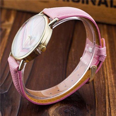 Zegarek Pudrowe Drewno Biały  Z114