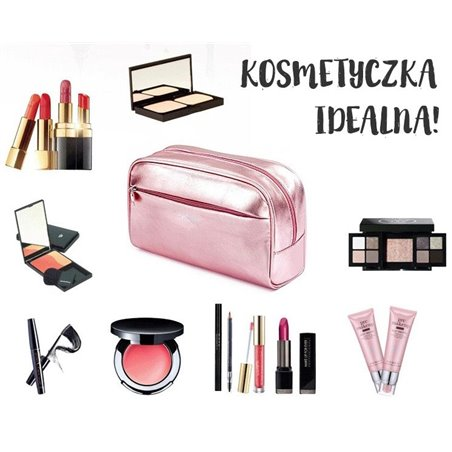 KOSMETYCZKA METALICZNA - FIOLETOWA KS8FIO