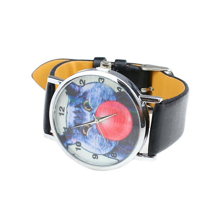 Zegarek Kot guma balonowa czarny Z136
