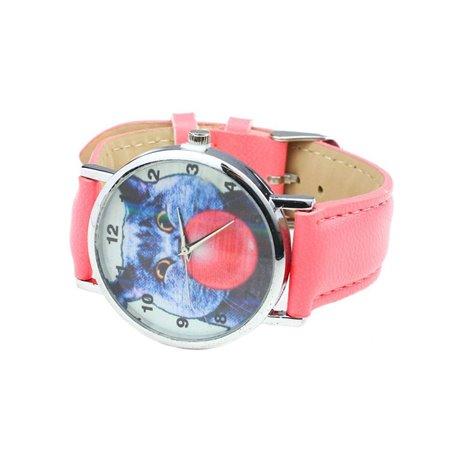 Zegarek Kot guma balonowa Pudrowy róż Z136