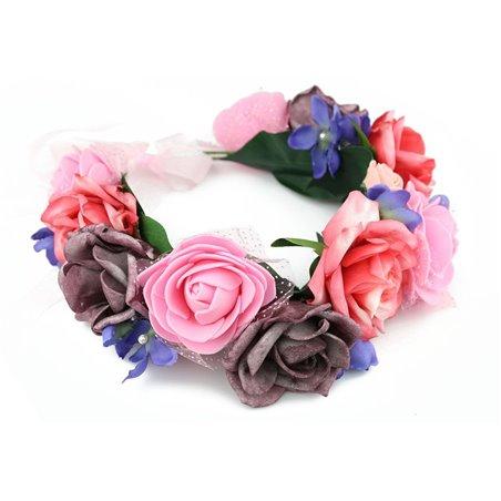 Wianek delikatny róże W52