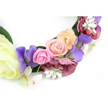 Wianek delikatny róże i hortensje W53