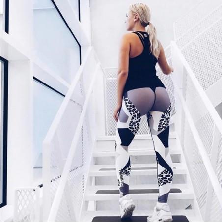 Sportowe Legginsy Fitness Trening M LEG8M