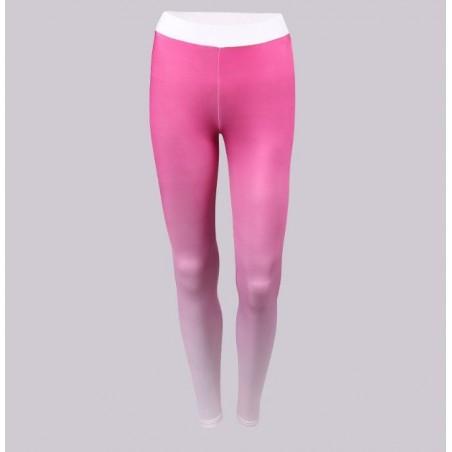 Sportowe Legginsy Fitness Trening Różowo Białe L LEG12L