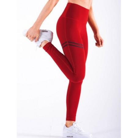 Sportowe Legginsy Fitness Trening Czerwone L LEG18L