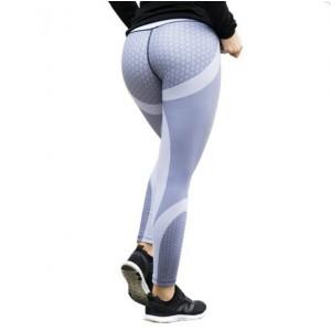 Sportowe Legginsy Fitness Trening Szare S LEG21S
