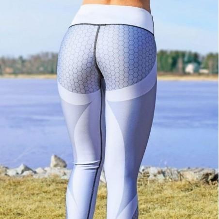 Sportowe Legginsy Fitness Trening Szare L LEG21L