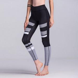Sportowe Legginsy Fitness Trening Czarno Szare M LEG22M