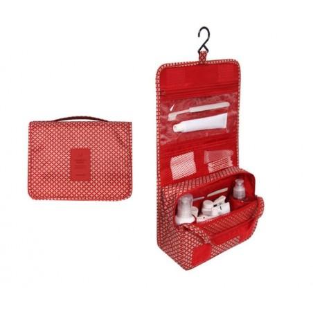 Organizer na kosmetyki, kosmetyczka rozkładana czerwona KS18WZ3