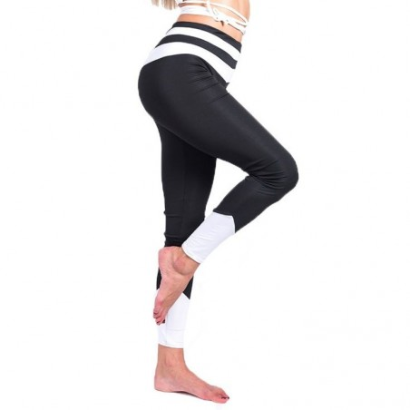 Sportowe Legginsy Fitness Trening Czarne S LEG30S